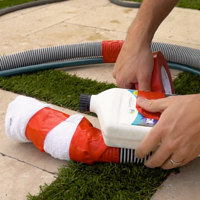 tie hoses together, pool start up, how to fill a pool, orenda startup