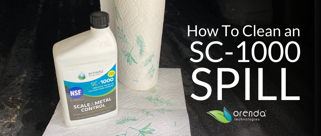 SC-1000, orenda SC-1000, how to clean up SC1000, how to clean up SC-1000, sc1000 spill, pool chemical spill