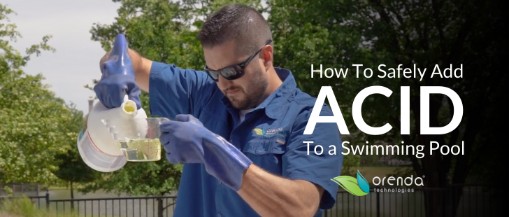 how to add acid, how to use muriatic acid, sodium bisulfate, lower pH, lower alkalinity, how to lower pH and alkalinity, how to safely use acid for pool, swimming pool acid